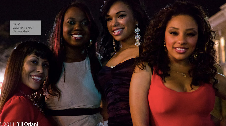 four pretty black women